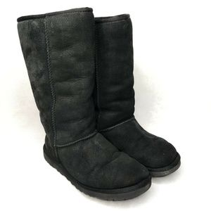 UGG Australia Classic Black Tall Boots Sheepskin